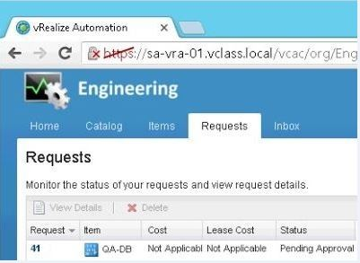 VMware vRA requests stuck at InProgress or Pending Approval